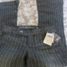 GUESS JEANS FRANKIE FLARE Stripe NEW Stretch Unique Career EXCLUSIVE  26 x 31
