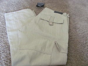 COOGI C69 Tan Cargo Pant Jean NWT 36 x 34 Twill Multi Pocket Authentic Fit