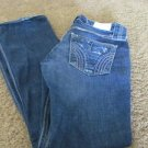 "TAVERENITI SO JEANS MANON 28 X 32 ½"" Distressed Low Bootcut VGC"