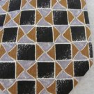 MANZONI ITALY SILK Handsome TIE Black Silver/Gray Browns/COPPER EUC
