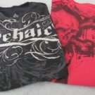 ARCHIAC GRAPHIC TEES LOT OF 2 Large Black Red Pre-owned  Shirts