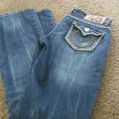 VIRGIN ONLY SIZE 5 Whipped  Stitch Western Inspired Low Straight EUC FREE SHIP