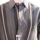 "WRANGLER 20X Western Shirt Black Gray Stripe Handsome Cowboy Button 16 ½"" 34/35"
