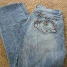 MAVI ZOE JEAN 30 X 32 Low Boot Thick Stitch Back Pockets RN 95767 EUC