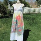 SUN DRESS Boutique White Screen Print Small Dress Bathing Suit Cover Up