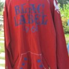 BLAC LABEL JACKET SWEAT FULL ZIP 4X  1968 Courage To Live Red Graphic
