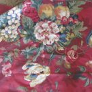 FABRICS  Vintage Chic Country TUSCANY Floral  RED  54 X 24 SCREEN PRINT