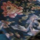 FABRICS MILL CREEK SCREEN PRINT Floral on Tone on Tone Stripe Teflon 54 X 54