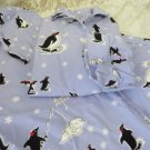 NICK & NORA SLEEPWEAR Pajama's PJS Small PENGUINS in Snow Shoes NEW