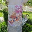 SKINNY MINNIE Dress MEDIUM Print Stripe Summer BOHO Drop Waist Beach Wear   NEW