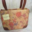 MONDANI  NEW YORK Tivoli Paper Straw Purse Handbag Floral Woven NWT