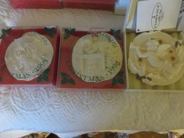 Giuseppe Armani Christmas Ornaments 1995 1996 2001 Set of 3 NIB