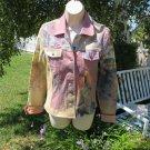 ANNE ELISABETH JEAN'S Jacket Paris Scenic Romantic Funky Fun S/M EUC  in PINKS