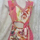 JUST CAVALLI Roberto TOP Blouse Pinks Cut out Size 40 s/m Sexy ITALY