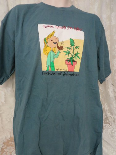 """SPIKE & MIKE TEE Festival of Animation """"Home, honey I'm High 1990's Collectible"""