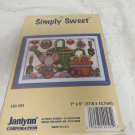 JANLYNN COUNTED CROSS STITCH KIT 140-105 Simply Sweet 7 X 5 KIT