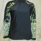 PETER PILOTTO Target Swim Top OPEN BACK Rash Guard  Size Medium Bathing