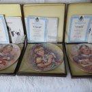WEDGEWOOD Vickers Plates Wistful Cherish MINT Complete 3 Plate