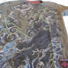AFFLICTION TEE XL Signature Series PAUL JEFFRIES Green Small Red Label Premium