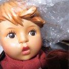 "HUMMEL PORCELAIN DOLL Goebel Little Scholar 14""  #1067911211 Box COA Mint"