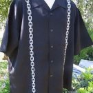 DRAGONFLY SHIRT XL Black Silver CHAIN  NWT EMBROIDERED Ft448  Hot Topic