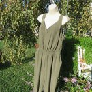 PURE ENERGY JUMPSUIT Green Olive NEW 1X Washable Casual Career