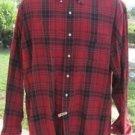 RALPH LAUREN SHIRT RED PLAID McMeel Cotton Pocket Long Sleeve LARGE  EUC