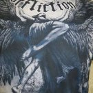 AFFLICTION TEE Los Angeles Medium Blue Winged Lady Flying Shirt