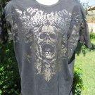 AFFLICTION TEE BLACK Signature Fedor Emelianenko XL Foil The Last Emperor Shirt