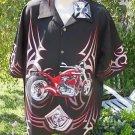 DRAGONFLY SHIRT  XXL 2XL BB Custom V Twin  Shirt PG831 NWT Black RED NWT 2004