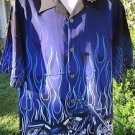 DRAGONFLY ROADHOUSE  SHIRT NWT Flames STOCK Motor CYCLE PG914  XL Flames 2005
