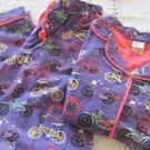 MUNKI MUNKI Nite Nite Sleepwear Pajamas Flannel Purple Pink Bikes NEW Small