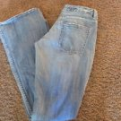 KUNNA JEANS  28 x 33 Low Rise Flare Rag Wash*