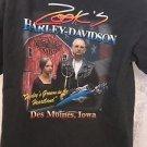 HARLEY DAVIDSON TEE LARGE BLACK ZOOKS Grown in The Heartland 2003 CLASSIC