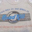ROAD KILL CAFE TEE Gray Tank NEW XL Direct From Highways To You