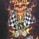 DRAGONFLY SHIRT Button Front XXL HELLS GARAGE PG837 NWT golf Club Bowl