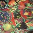 P KAUFMAN Fabric Print Rooster Sunflower Nostalgic Scotch guarded Crafts Pillows