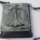 SMASH PURSE CROSS BODY LEATHER CROSS SKULL Shoulder Bag Belt Wallet NEW