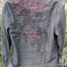 FENDER ROCK & ROLL SHIRT LARGE Black Cotton Embroirdered Studded Long Sleeve Pkt