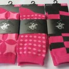 BEVERLY HILLS POLO CLUB SOCKS Women's Various Golf Casual PINK size 4-9 3 pair