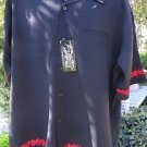DRAGONFLY SHIRT  XXL 2XL BLACK Red Embroidered THORNS TB16 NWT 2003 Faux Pocket