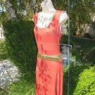 ALLEN B BY ALLEN SCHWARTZ Large Stripe Asymmetrical DRESS Rayon Belted.