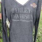 NWT HARLEY DAVIDSON Tee Dark & Dynamic LARGE HELLBENDER Atlanta GA GRAY