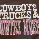 RANSOM TEE XXL BROWN Cowboys Trucks & Country Music Cotton Scoop Neck