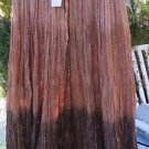 JUST CRUSING SKIRT Ombre Brown Metallic Gauze Broomstick FREE SIZE NWT BOHO