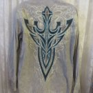 ROAR SHIRT Signature XL Grey Embroirdered Long sleeve Down to Earth