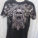 AFFLICTION TEE XLSIGNATURE SERIES FEDOR EMELIANENKO   Black silver metallic