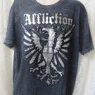AFFLICTION TEE XXL Cut Series   Black silver metallic