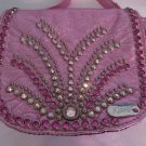 KIPPYS PURSE BELT POUCH PINK METALLIC  Crystals  Cross Body BLING Dance Cowgirl