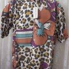 Giorgio DANIELI Shirt VINTAGE Dress Casual Retro MEDIUM PARROT ANIMAL PRINT